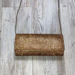 Gold rhinestone purse
